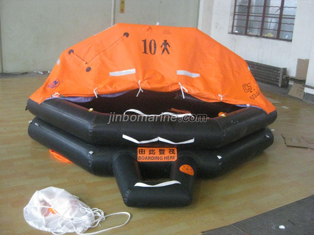 10 Persons Throw-Over Board Inflatable Life Raft