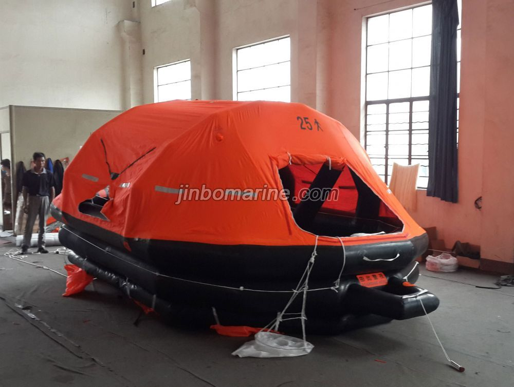 25 Persons Throw-Over Board Inflatable Life Raft