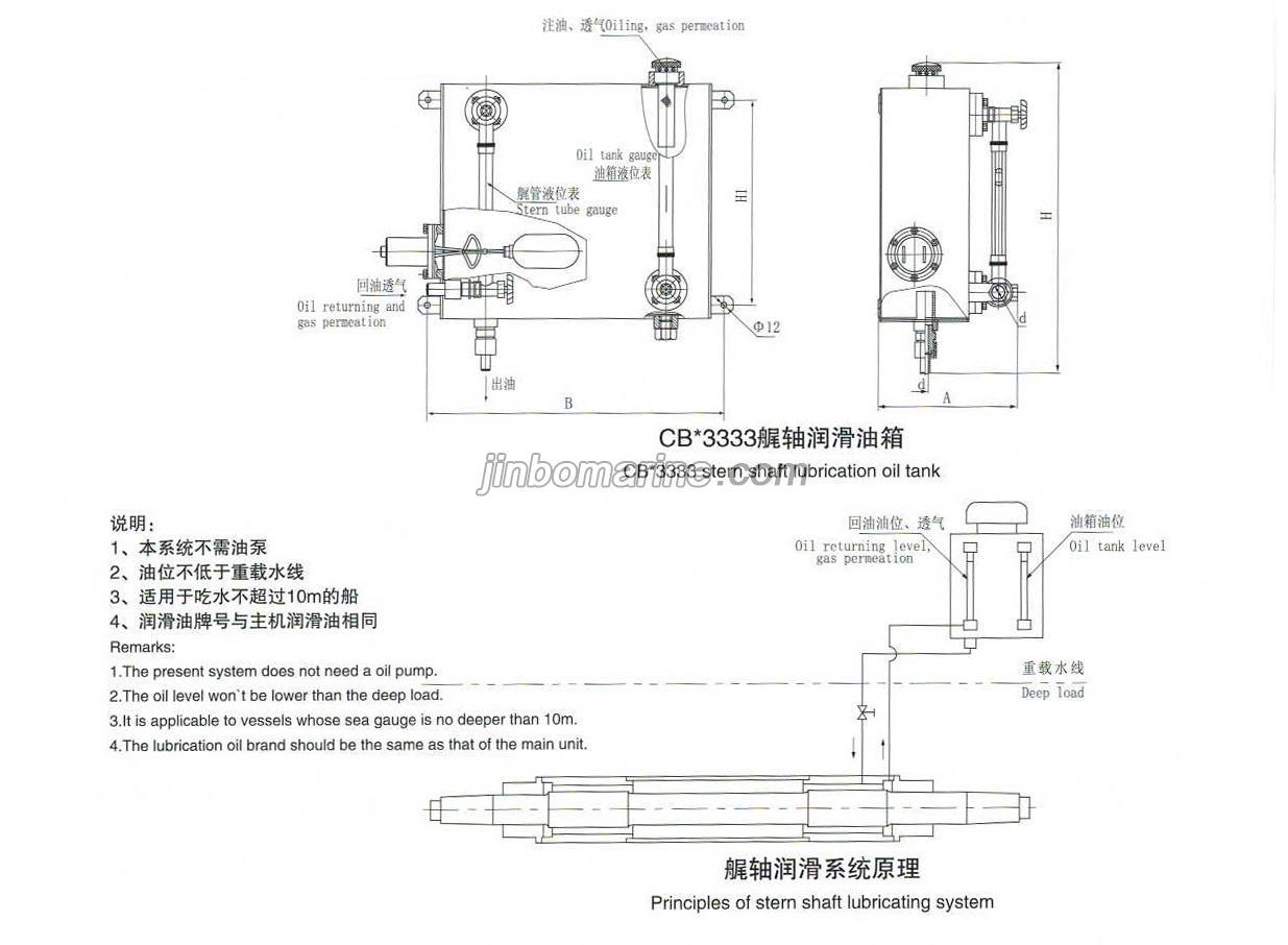CB3333 Stern Shaft Lubricated Oil Tank, Buy Marine Shaft from China Manufacturer - JINBO MARINE