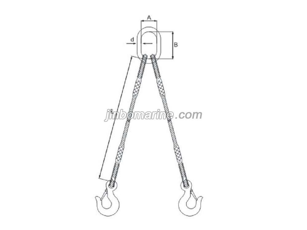 double legs spliced wire rope sling  buy chain sling from