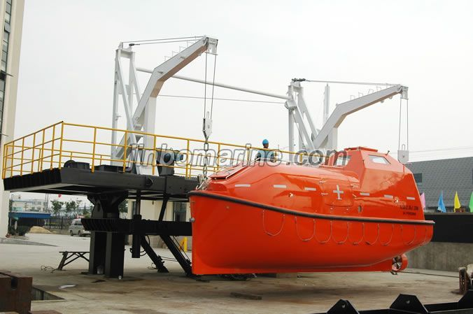 Gravity Luffing Arm Type Davit Buy Lifeboat Davit From