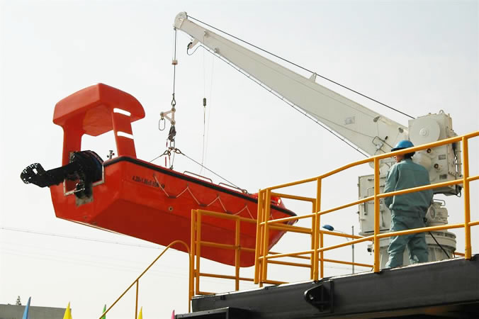 Hydraulic Slewing Crane And Rescue Boat Liferaft Landing Device