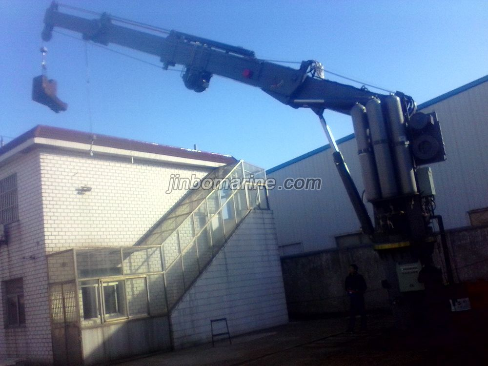 Hydraulic Telescopic Folding Arm Crane And Rescue Boat