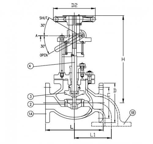 Marine Cast Steel Emergency Shut Off Valve Jis F7399 5k Buy Jis