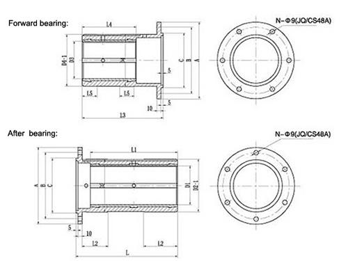 marine shaft stuffing box