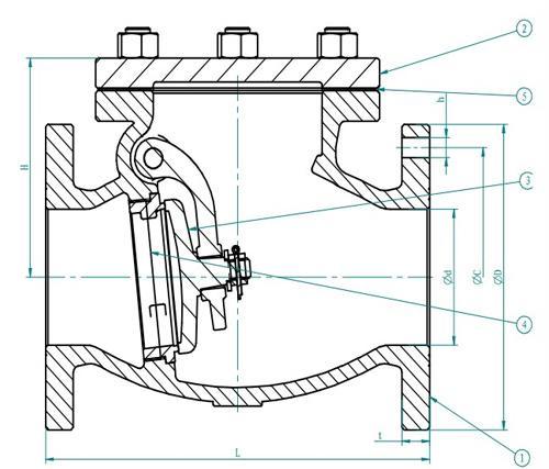 Marine Cast Iron Swing Check Valve Jis F7373 10k Buy Jis