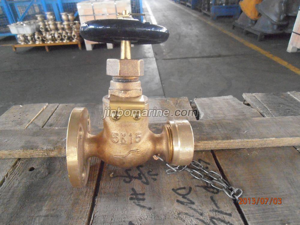 Marine Bronze Globe Hose Valve Jis F7334 5k Dn15 Dn25