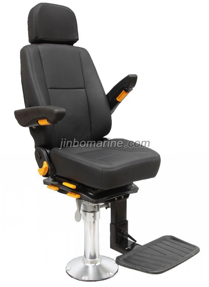 Marine Fixed Pilot Chair With Aluminum Alloy Column Tr 002