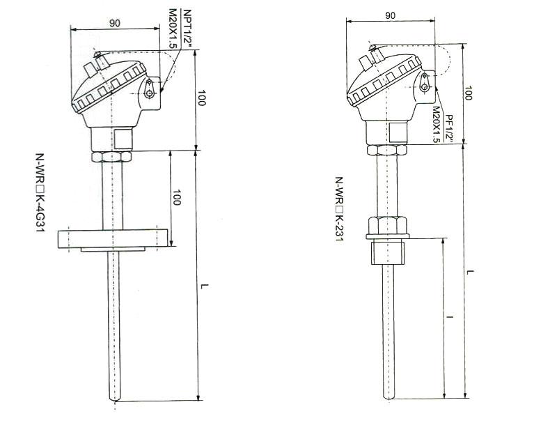 marine temperature sensor wzpk series  buy marine