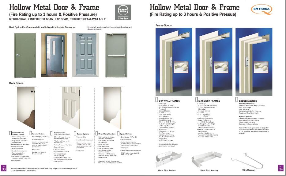 Double Hollow Metal Door Buy Steel Fire Door With Wh From China