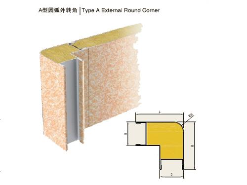Type a external round corner buy corner panel from china manufacturer jinbo marine - Extern panel ...