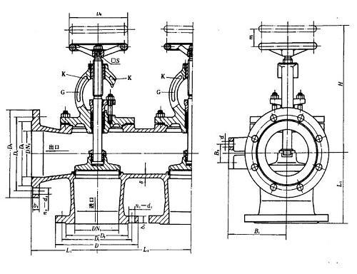 marine cast iron single arrangement suction stop box valve