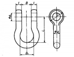 BA Type JIS B2801 Bow Shackle
