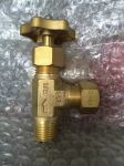 Brass Needle Angle Valve with Ring Joint Nut at Outlet