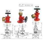 GB2032 Flanged Fire Hydrant
