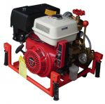 Portable gasoline fire pump