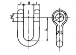 SB Type JIS B2801 Straight Shackle