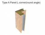 Type A Panel L Corner with Round Angle