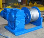 Turbine worm winch