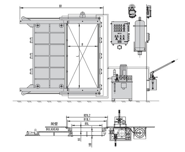 marine hydraulic watertight sliding door  marine door for